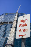High risk area sign Royalty Free Stock Photography