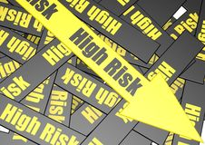 High risk banner Stock Photo
