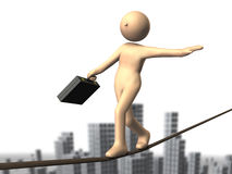 High risk business, such as tightrope Royalty Free Stock Image