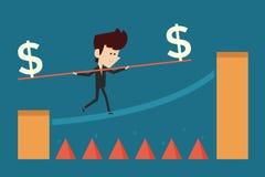High risk high return Stock Image