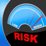 High Risk Indicates Insecure Hurdle And Risky Stock Photos