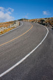 High road. Steep road leading up to the top of Mount Washington Stock Photos