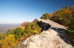 High Rock. Early fall colors at High Rock atop Pine Mountain in Kentucky Royalty Free Stock Photography