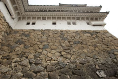 High rock wall of the Himeji Castle, Japan Royalty Free Stock Photo