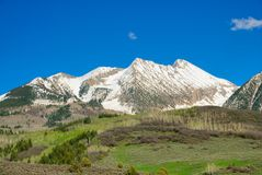 High Rockies. Spring season in Colorado Rockies royalty free stock photography