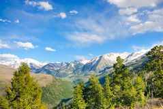 High Rockies of Colorado. Spring season in Colorado Rockies stock photos