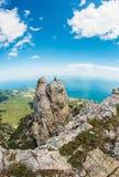 High rocks Ai-Petri of Crimean mountains Stock Photo