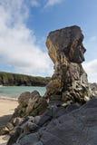 High rocks on Isle of Lewis Stock Photos