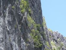 High rocky mountain on the islands . Philippines stock footage