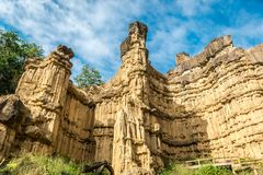 High rocky mountain at Pha Chor National Park, Thailand. royalty free stock photo