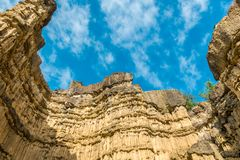 High rocky mountain at Pha Chor National Park, Thailand. stock images