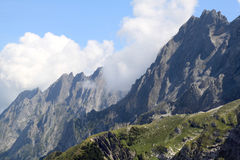 The high rocky peak of the Swiss mount Schwarzhorn Stock Photo