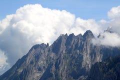 The high rocky Swiss mountain of Schwarzhorn royalty free stock photo
