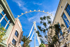 High Roller Observation Wheel Las Vegas Nevada Stock Photo