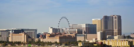 A High Roller View from McCarran International Airport Royalty Free Stock Images