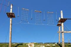 High rope challenge stock photos