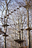 High ropes course. In Friedichsort, Germany Stock Photo