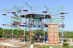 High ropes course at Cayo Coco Royalty Free Stock Photo
