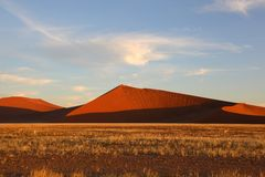 High Sand Dunes in Namib Naukluft NP Stock Photos