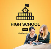 High School Academic Knowledge Student Concept Stock Photography