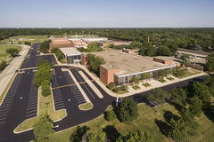 High School Aerial View Stock Photo