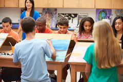 High School Art Class With Teacher Royalty Free Stock Photo