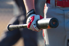 High School Baseball batter Stock Image