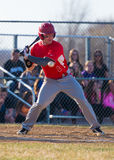 High School Baseball batter. Takes a pitch Royalty Free Stock Image