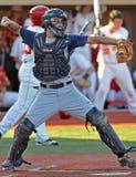 High School Baseball catcher Stock Photos
