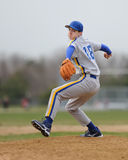 High school baseball pitcher Royalty Free Stock Photo
