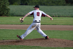 High school baseball pitcher. Royalty Free Stock Photos