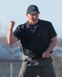 High School Baseball umpire Stock Photography