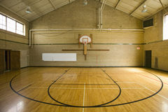 High school basketball court Stock Photo