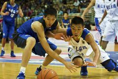 High School Basketball Game,HBL Royalty Free Stock Image
