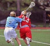 High school boys lacrosse Stock Images