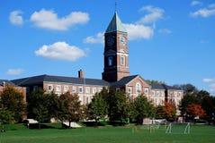 High school with clocktower Stock Photos