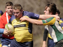 High School Club Rugby Stock Image