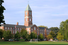 High School con clocktower Immagini Stock