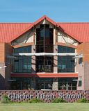 High School del ghiacciaio fotografie stock libere da diritti