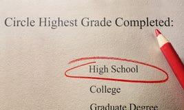 High School education concept Stock Image