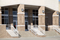High school entrance background Royalty Free Stock Photo