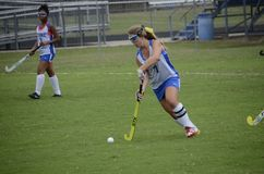 High School Field Hockey Game royalty free stock images