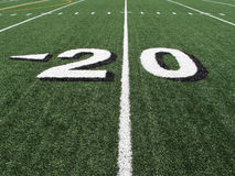 High School Football Field Yardage Marker Royalty Free Stock Image