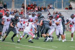 High School Football Game. A high school football game royalty free stock photography