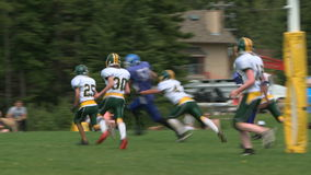 High School Football Game stock video footage