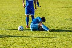 High School Football League Match Royalty Free Stock Photo