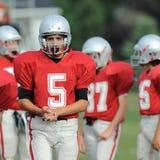 High School Football Player Stock Image