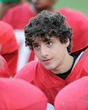 High school football player. In huddle Royalty Free Stock Images