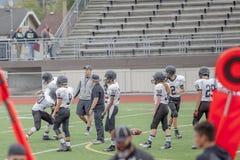 High school football players Royalty Free Stock Photos