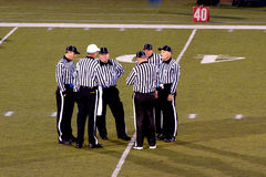 High School Football Referees Royalty Free Stock Photography